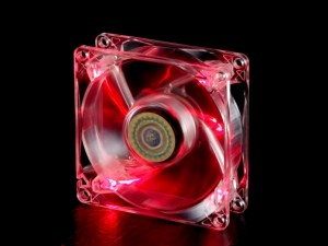FAN 12CM - LED RED