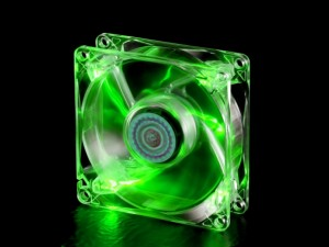 FAN 12CM - LED GREEN